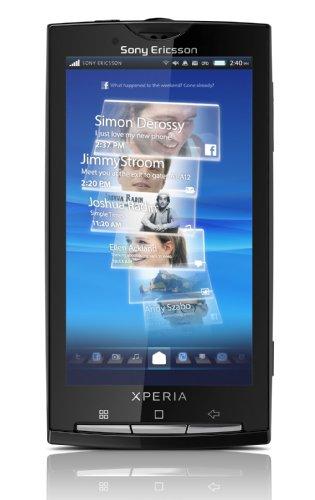Sony Ericsson Xperia X10 Smartphone (10,1 cm (4 Zoll) Touchscreen, Android 2.3 OS, Timescape, Mediascape, 8.1 MP Kamera, GPS) Sensuous Black