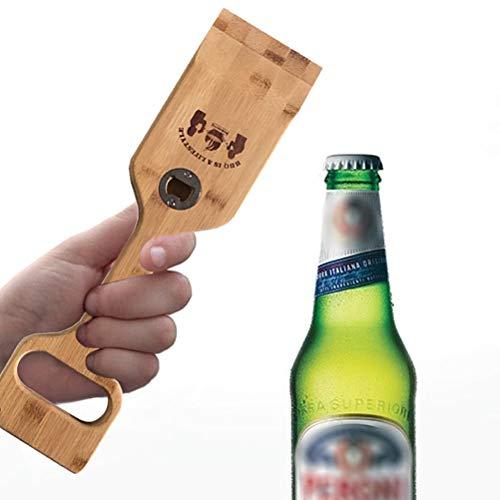 Borstu Raclette Schaber Flaschenöffner Reinigungsschaber Grill Schaufel Grillwerkzeuge mit Seil für Grill