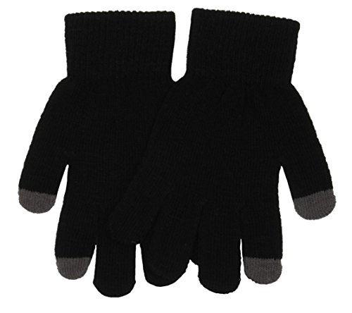 Mens Touch Screen Gloves for iPhone, iPad, Blackberry, Samsung, HTC and other smartphones, PDA's & Sat navs, Black