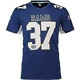 Fanatics NFL Los Angeles Rams #37 - Camiseta de manga corta (poliéster y malla), Color azul y negro, large