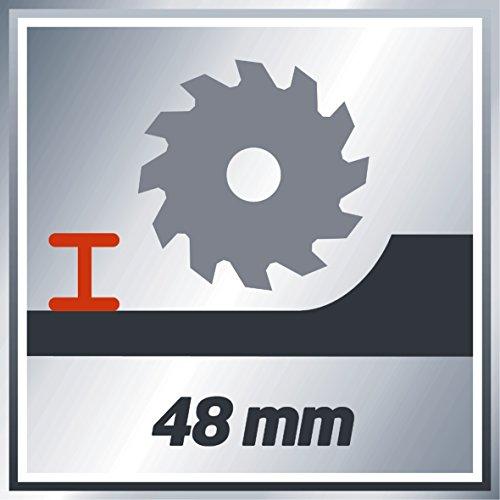 Einhell Akku Handkreissäge TE-CS 18 Li Solo Power X-Change (Lithium Ionen, 18 V, max. 48 mm, Sägeblatt Ø150 x Ø10 mm, 24 Zähne, Staubabsaugadapter, ohne Akku und Ladegerät) - 10