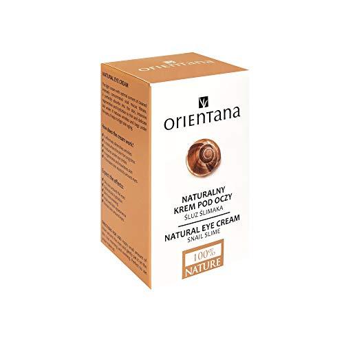 Orientana Natürliche Augencreme mit Schneckenschleim & Koffein - Anti Aging Bio Creme Gegen Dunkle Augenringe Falten Tränensäcke & Schwellungen - Augenpflege Für Frauen - Für Jeden Hauttyp, 15ml