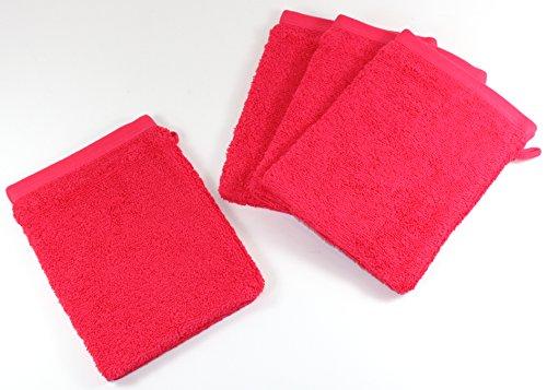 Gant de Toilette Lot de 8 Rose Gants de Toilette Gant Manique Maniques Essuie-Mains Serviette essuie-Mains 415