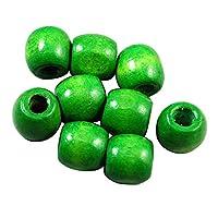 Kloware 100ピース/別oßeビーズ木製ビーズラウンドビーズクラフトビーズジュエリービーズ - 緑