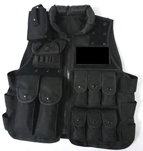 360 Tactical Police Military SWAT Entry Law Enforcement Assault Utility Vest Chest Vest (Black)