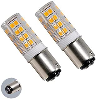 LED Bulbs Ba15d Double Contact Bayonet Base LED Corn Bulb52 lamp Beads 120 Volts 5Watts Warm White3000k T3/T4/C7/S6 LED Halogen Replacement Bulb (Pack of 2)