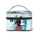 Bolsa de maquillaje, bolsa de viaje portátil de Minnie Mouse bolsa grande de malla organizador de brochas de tocador para mujeres y niñas