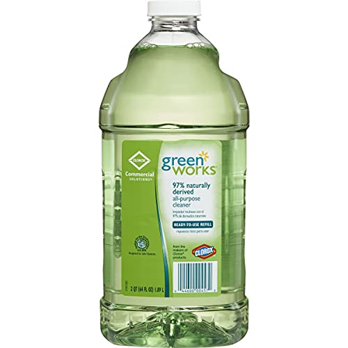 CloroxPro Clorox Commercial Solutions Green Works All Purpose Cleaner Refill, 64 Ounces (00457), Greater than 40 ounces