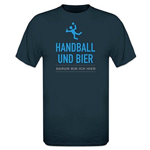 Shirtcity Handball und Bier, darum Bin ich Hier T-Shirt by