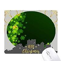クローバーはアイルランドの聖パトリックの日の金 クリスマスイブのゴムマウスパッド