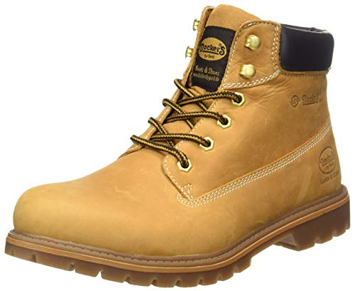 Dockers 35CA001 - botas desert de cuero hombre, color beige, talla 43