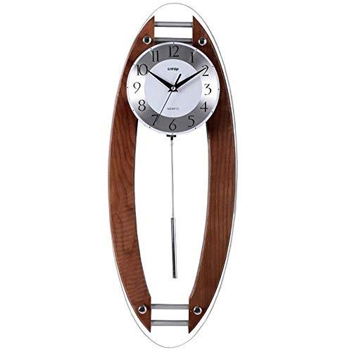 MingXinJia Relojes de Cabecera para el Hogar Relojes de Pared de Madera, Reloj de Pared Silencioso para Estudio de la Sala de Estar Del Dormitorio para la Cocina, Baño, Reloj Rectangular