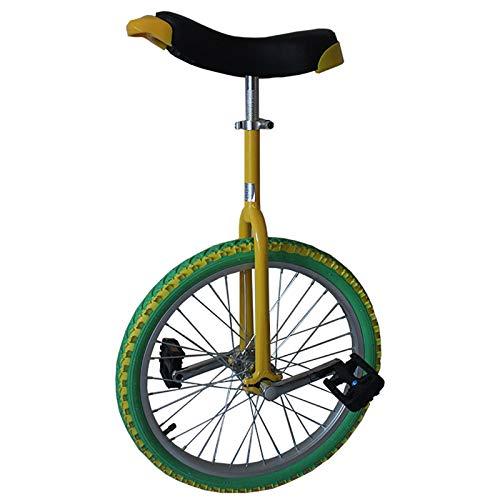 TTRY&ZHANG 18/16 Pulgadas de la Rueda Unicycle, para niños/Adolescentes/niño (Edad de 7 a 15 años), con neumático de butilo a Prueba de Fugas, Equilibrio de Moda al Aire Libre Ciclismo