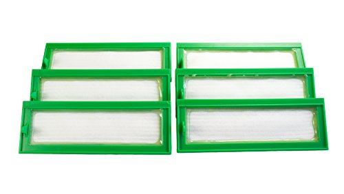 Hannets Hochwertiges Zubehör 6 Hochleistungsfilter I Vorwerk VR200 und VR300 Staubsaugroboter Ersatzset I Premium Zubehör für Kobold VR 200 und VR 300 HEPA Filter