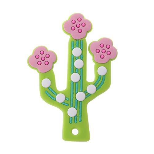 zhangaoyo Cactus Mordedor Bebé Dentición Colgante de Lactancia Suave Cuentas de Silicona Juguetes Seguros para DIY Dentición Collar