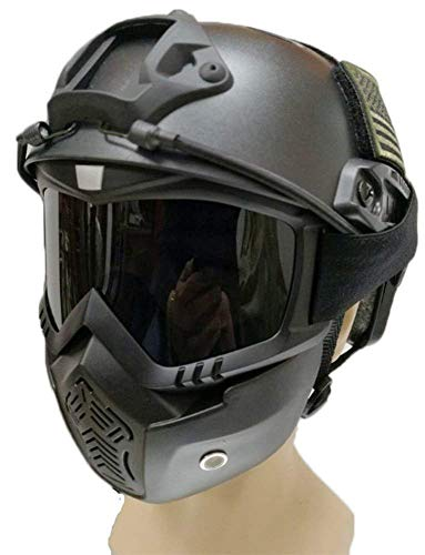 ZCP FAST Tactical Helmet for Outdoor Sports Include Goggles Mask, Suitable for Air Gun Paintball Hunting Shooting, Army Military Protective Equipment