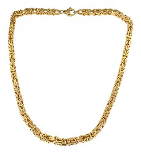 tendenze-ITALY Königskette vergoldet 6 mm quadratisch Länge 50 cm Schmuck ab Fabrik BZG6-50