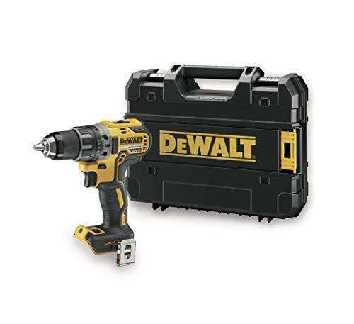 DeWalt Bohrschrauber (18 Volt, mit zwei-Gang Vollmetallgetriebe, LED-Arbeitsleuchte, 15-Stufiges Drehmomentmodul für Langzeiteinsatz geeignet, Lieferung ohne Akku und Ladegerät) DCD791NT