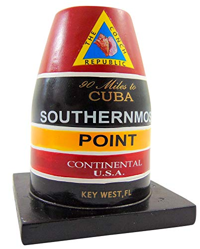 Southernmost Point Buoy Replica Statue Key West Florida Table Decoration, 3 inch