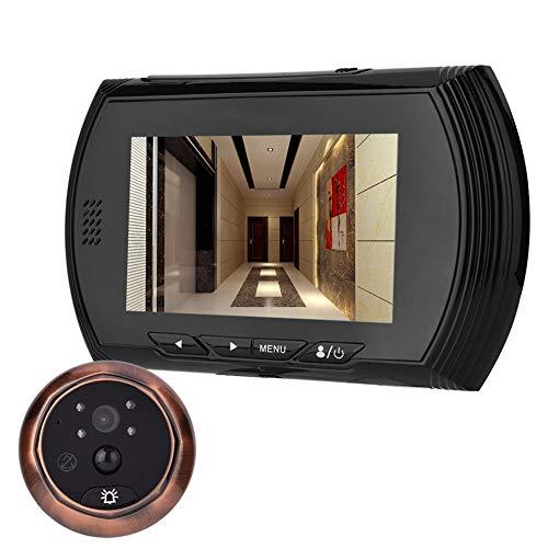Vbestlife 3MP Viewer de Puerta Cámara de Seguridad IR con Mirilla Gran Angular w/sin Molestar Función Timbre, 4.3 Pulgadas