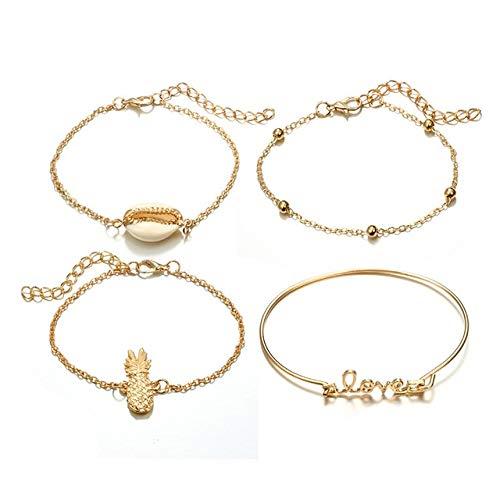 QFJCNZ Armband Mode Charme Armbänder Set Für Frauen Vintage Turtle Map Perlen Mehrschichtige Armband Schmuck