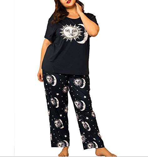 XINGYU Ropa para Dormir Camisones para Mujer Traje De Dos Piezas Manga Corta Pantalones Pijamas Impresión Suelto Primavera Y Verano Hogar Ropa