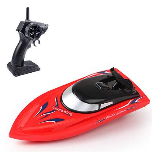 Teakpeak Boote Ferngesteuert Kinder, 2.4G 10KM/H Boote ferngesteuert kinderRC Rennboot Schnellboot SpielzeugHochgeschwindigkeits RC Boot