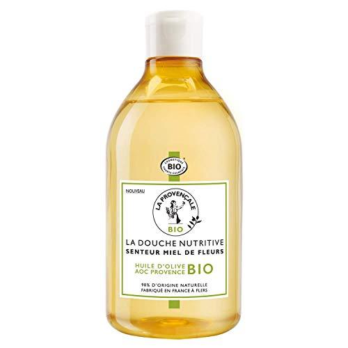 La Provençale - La Douche Nutritive Senteur Miel de Fleurs - Gel Douche Certifié Bio - Huile d'Olive Bio AOC Provence - 500 ml
