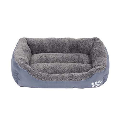 Hundebett Katzenbett Weiches Warm Haustierbett,iMeshbean Hundematratze Hundesofa Katzensofa Waschbar Hundekissen Hundekörbchen Schlafbett für Hunde Katzen 45-95CM (M, Grau)