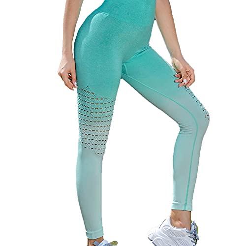 WJANYHN Pantalones De Yoga, Pantalones De Fitness con Recorte Degradado, Pantalones Deportivos Transpirables Agrandados Y Ajustados