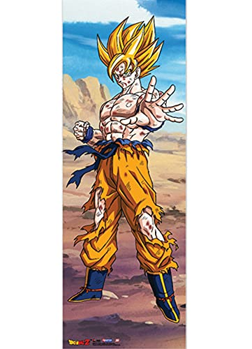 Great Eastern Entertainment Dragon Ball Z Goku Oversized Wall Scroll, 24 by 66-Inch