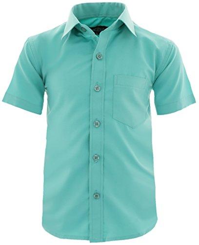 GILLSONZ A0 vDa New Kinder Party Hemd Freizeit Hemd bügelleicht Kurz ARM Gr.86-158 (98-104, Mint)