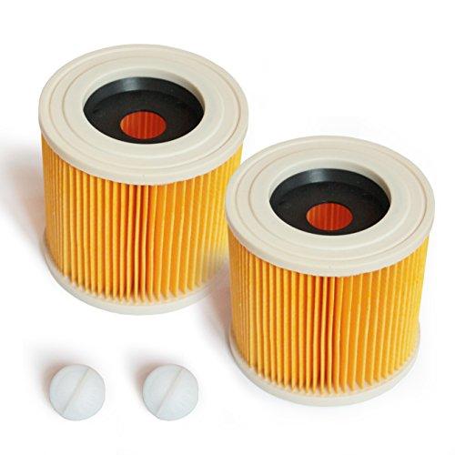 MI:KA:FI Patronenfilter | für Kärcher Mehrzwecksauger + Nass-/ Trockensauger + Waschsauger | WD2 + WD3 + WD2.200 + WD3.200 + WD3.300 M + WD3.500 P + SE 4001 + SE 4002 | wie 6.414-552.0 (2x Filter)