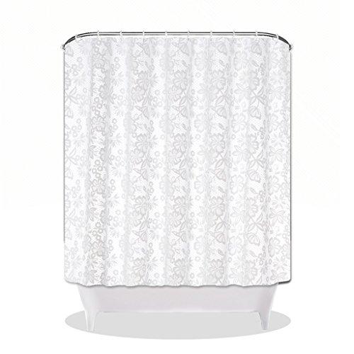 Schimmel PEVA Badezimmer Duschvorhang reinweiß Hotel Trennwand Gardinen Badezimmerzubehör (Farbe : Weiß, Größe : 300*180cm)