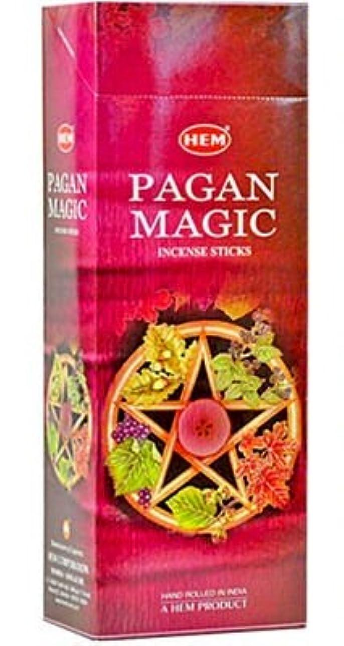 背骨行く上にHEM(ヘム)社 パガンマジック香 スティック PAGAN MAGIC 6箱セット