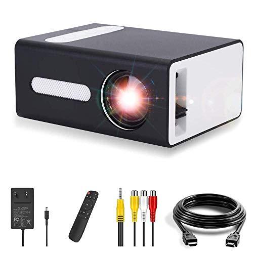 Proiettore, mini proiettore portatile OOTOMI per cellulari compatibile con jack per cuffie USB HDMI TF AV da 3,5 mm, regalo per bambini