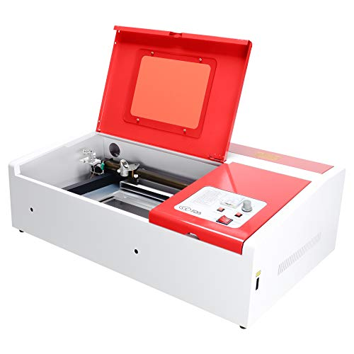 Orion Motor Tech 40W Co2 Laser Engraving Cutting Machine, 12 x 8 Inches K40 Desktop DIY Wood Laser Engraver Cutter with Air Exhaust Fan