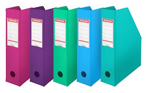Esselte 20904–Lotto di 10Portariviste in PVC 70mm colori assortiti