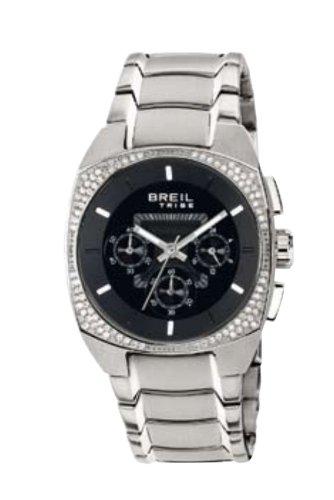Breil TW0497 - Reloj cronógrafo de mujer de cuarzo con correa de acero inoxidable plateada (cronómetro) - sumergible a 50 metros
