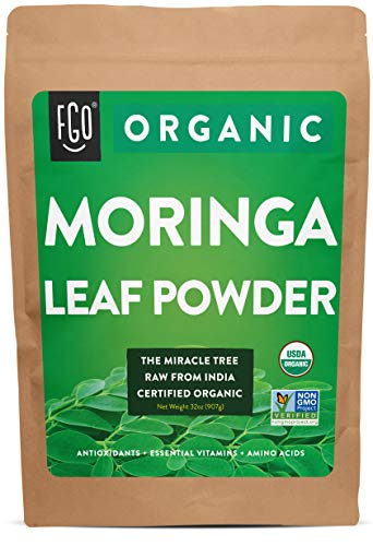 Organic Moringa Oleifera Leaf Powder | Perfect for Smoothies, Drinks, Tea & Recipes |...