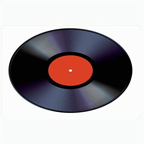 Zome Lag Tapete De Suelo Alfombras De Piso Estera De Entrada Tapete De Ducha,Estilo Vinilo Decoración Disco Vintage Roll Sonido 33 45 Disco Rock Jazz 1970S Pasión Ranurado
