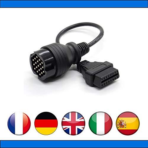 Mister Diagnostic Adapter Professionell OBD2 kompatibel mit Porsche 19 Pin für Durametric