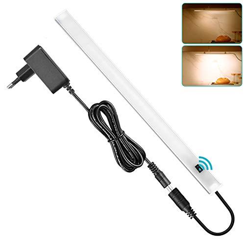 SOAIY 30cm Réglette LED pour Cuisine ou Atelier avec Capteur de Main Luminosité Réglable Fonction de Mémoire Facile à Installer pour Cuisine,Placard, Chaud 3000K