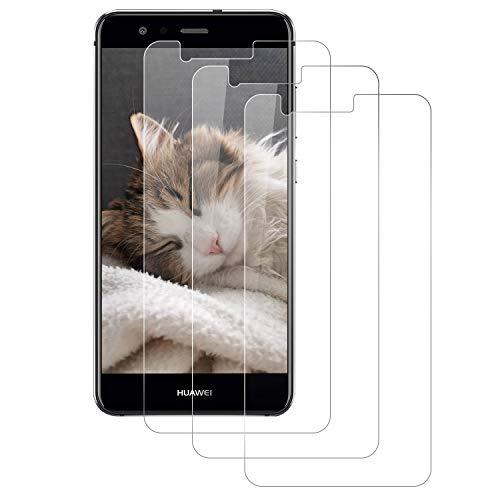 DOSMUNG [3 Pezzi Vetro Temperato per Huawei P10 Lite, Pellicola Vetro per Huawei P10 Lite [Anti-Olio] [Facile da Installare] [Senza Bolle] [3D Touch] [9H Durezza] Huawei P10 Lite Pellicola Protettiva