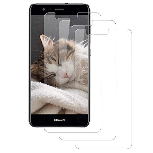 DOSMUNG Protector de Pantalla para Huawei P10 Lite, [3 Pack] Cristal Templado para Huawei P10 Lite, Alta Definicion/9H Dureza/Anti Arañazos/Sin Burbujas Vidrio Templado Película para Huawei P10 Lite