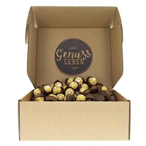 Genussleben Geschenkbox Ferrero Rocher, knusprige Pralinen mit Milchschokolade und Haselnusscreme, Geschenkidee Weihnachten