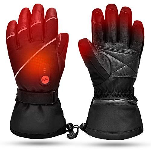 Guanti Riscaldati per Uomo Donna,Batteria Ricaricabile Elettronica Guanti di Riscaldamento Moto da Guida,Sci Caccia Pesca Guida Ciclismo Campeggio Escursionismo Moto Guanto a Manopola Scaldamani