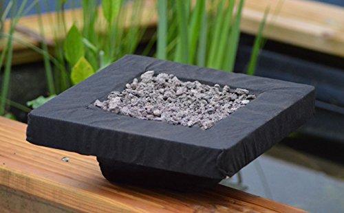 Schwimmende Pflanzinsel 25 cm inkl. Substrat | Teichinsel | Koipflanzinsel|Schwimminsel