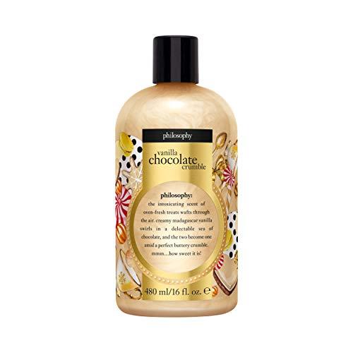 philosophy vanilla chocolate crumble shampoo, shower gel & bubble bath, 16 oz