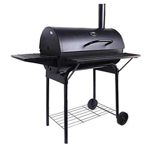 Hochwertiger Grill Barbecue Grill, Barbecue Grill Holzkohle-Grill im Freien Grill Pit Patio Hinterhof Heim Fleisch Herd Raucher mit Offset Rauchern Heavy-Duty-Barrel Charcoal Grill (42 25 37,7 Zoll)